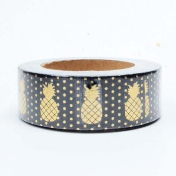 Pineapple Washi Tape-Gold and Black