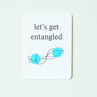Nerd Love Card Let's Get Entangled by 4four on Etsy