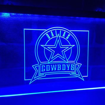 LD483- Dallas Cowboys Badge   LED Neon Light Signn     home decor  crafts