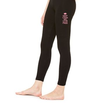 Keep calm and love Pigs - LEGGING