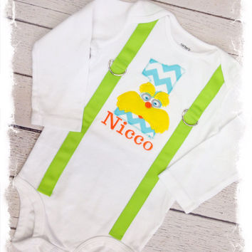 BOYS FIRST BIRTHDAY Outfit with Name-Boys Birthday Bodysuit with Suspenders,Birthday Hat and Crawlers, Cake Smash Outfit
