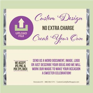Create Your Own Baptism Candy Bar Wrappers