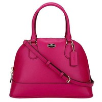 COACH Women Shopping Leather Tote Handbag Shoulder Bag-14