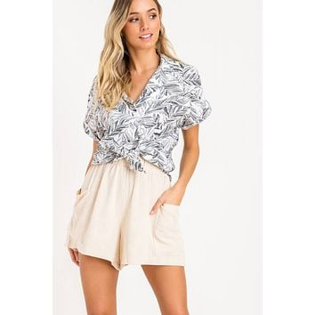 Dolman Sleeve Button Down Shirt