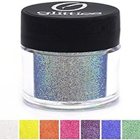 "Blazing Blue - Iridescent Fine Face Glitter Powder .008"" - Loose Glitter Perfect for Nail Art, Nail Gels, and Nail Acrylics Supplies- Made in the USA! (10 Gram Jar/.25 oz)"