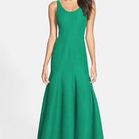 Halston Heritage Scoop Neck Faille