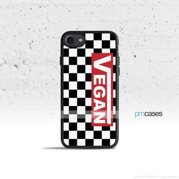 Vegan Checkered Phone Case Cover for Apple iPhone iPod Samsung Galaxy S & Note