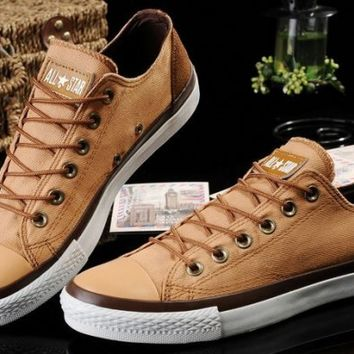 8fdb259ba3b4 Converse Shoes Brown Chuck Taylor Vampire Mens Womens Canvas   Leather  Sneakers Low