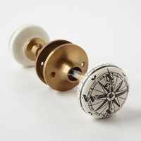 Compass Doorknob by Anthropologie Ivory One Size Knobs