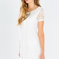 Isabel Crochet Shift Dress