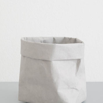Gray Paper Storage Bag - Small