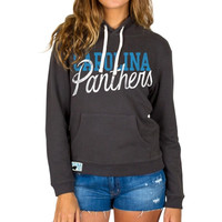 Carolina Panthers Junk Food Women's Sunday Pullover Hoodie – Black