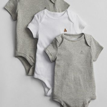 Short Sleeve Bodysuit (3-Pack)|gap