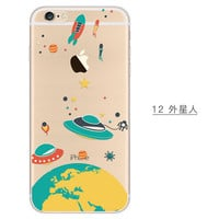 Flying Saucers Phone Case For iPhone 7 7Plus 6 6s Plus 5 5s SE