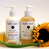 Baby Body Wash/ Shampoo & Body Lotion Gift Set By Baby Mee