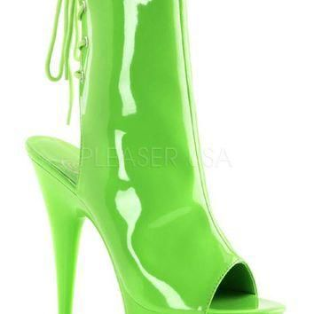 Pleaser Female 6 Inch Heel, 1 3/4 Inch Platform Open Toe/Back Ankle Boot DEL1018UV