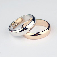 Rose Gold and Platinum Ring