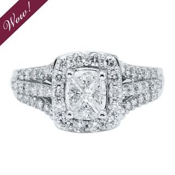 Helzberg Diamond Symphonies® Mosaica 1 1/4 ct. tw. Diamond Engagement Ring in 14K Gold - Rings - Jewelry - Helzberg Diamonds
