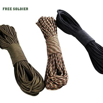 FREE SOLDIER Outdoor 9-core rappel rope Bracelet clasp    Rock-climbing rappel rope   Military supplies kit