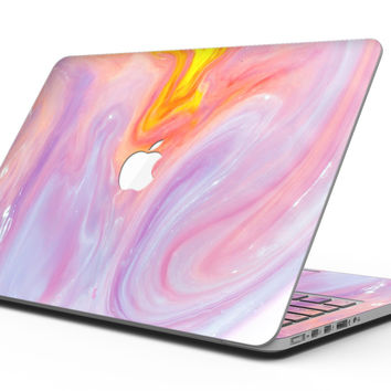 Marbleized Pink and Purple Paradise V2 - MacBook Pro with Retina Display Full-Coverage Skin Kit