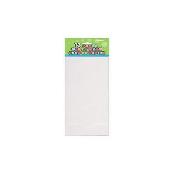Unique White Paper Party Favor Bags, 12 Count