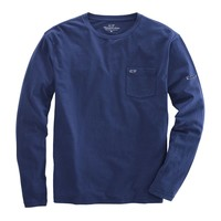 Long Sleeve Overdyed Heathered T-Shirt in Deep Bay by Vineyard Vines