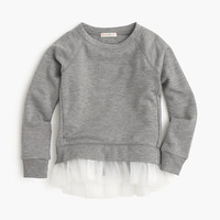crewcuts Girls Tulle-Hem Sweatshirt