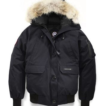 Canada goose chilliwack bomber winter WOMEN Down jacket/Navy blue
