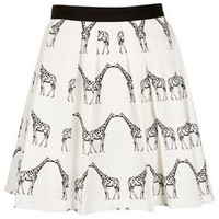 Kissing Giraffe Pleated Skirt - New In This Week  - New In