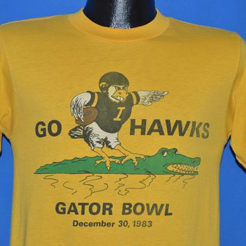 80s Iowa Hawkeyes Gator Bowl 1983 t-shirt Small