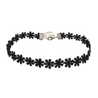Black Lace Flower Choker Necklace