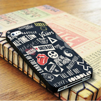 punk black band All time low the beatles bring me the horizon | For iPhone 4/4S Cases | Free Shipping | AH0429