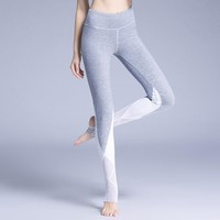 Women Leggings High Waist Mesh Panel Gym Elastic Yoga Stirrup Legging
