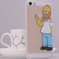 Blue White Yellow Homer Simpson Hard Cover Cell Phone Case