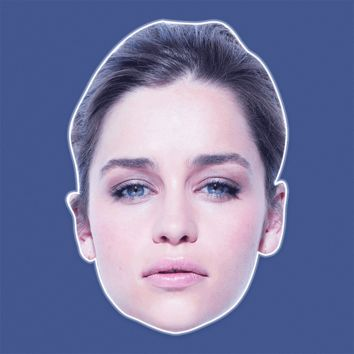 Neutral Emilia Clarke Mask - Perfect for Halloween, Costume Party Mask, Masquerades, Parties, Festivals, Concerts - Jumbo Size Waterproof Laminated Mask