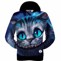 Printed Cheshire Cat Hoody