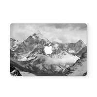 Snowy Mountain Apple MacBook Cover Decal Skin Top Front Lid Sticker Protector Air Pro Retina Touch Bar | 3M | 11 12 13 15 17 inch