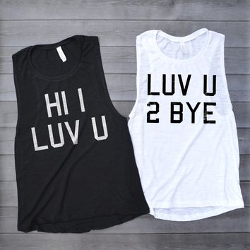 Cute Best Friends Matching Muscle Tank Tops