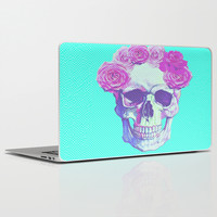 floral skull Laptop & iPad Skin by Ilola