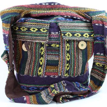 IKAT Multi Durrie Sling Jhola Bag Autumn Blends