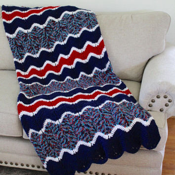 Best Red White Blue Crochet Afghan Products On Wanelo