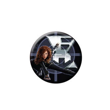 Black Widow Iron Man 2 Button