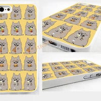 Because Cats,IPHONE 4/4S/5/5s 5c GLOSSY HARD CASE COVER>cute,emoji,pizza,cat