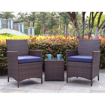 Varick Gallery Newcastle 3 Piece Deep Seating Group with Cushions