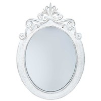 Distressed White Styrene Ornate Oval Mirror | Shop Hobby Lobby