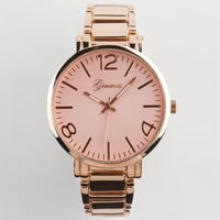 Geneva 3 Number Boyfriend Watch Rose Gold One Size For Women 23914238101