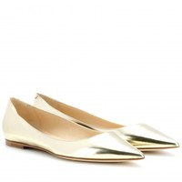 ALINA METALLIC-LEATHER BALLERINAS