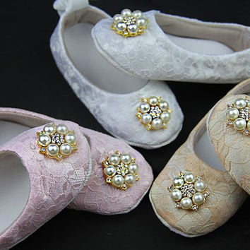 3 colors Baby girl ivory Shoes ,ivory Baby Shoes,Christening baby shoes, Baptism baby girl shoes, Wedding, Ready to ship, lace girls shoes,