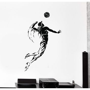 Vinyl Wall Decal Volleyball Player Sports Girl Woman Stickers Unique Gift (ig4695)