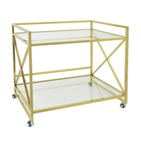 "Benzara 31.5"" Metal Bar Cart"